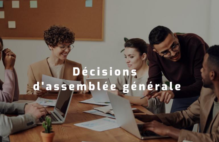 Les règles de majorité en assemblée générale